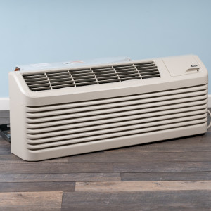 Image 3 of 15k BTU Reworked Gold-rated Amana PTAC Unit with Heat Pump - 265/277V, 15A