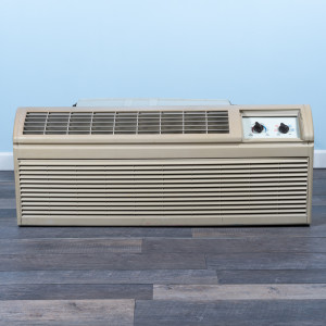Image 1 of 7k BTU Reworked Gold-rated Amana PTAC Unit with Heat Pump - 265/277V, 20A, NEMA 7-20