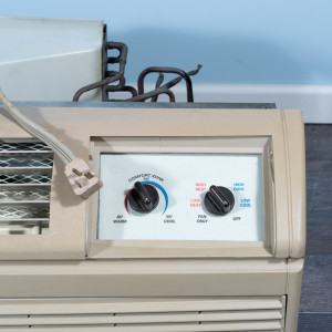 Image 2 of 7k BTU Reworked Gold-rated Amana PTAC Unit with Heat Pump - 265/277V, 20A, NEMA 7-20