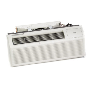 Image 1 of 15k BTU New Midea PTAC Unit with Resistive Electric Heat Only - 265/277V, 20A, NEMA 7-20 (MP15EMB63)