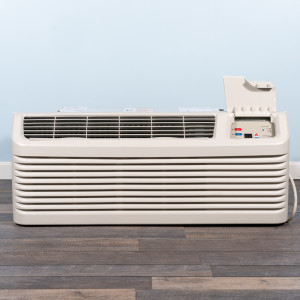 Image 1 of 15k BTU New Amana PTAC Unit with Heat Pump - 265/277V, 20A, NEMA 7-20 (PTH154G35AXXX)