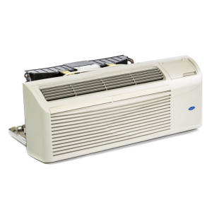 Image 1 of 7k BTU New Carrier PTAC Unit with Resistive Electric Heat Only - 208/230V, 15A, NEMA 6-15 (CA7KEH230KN)