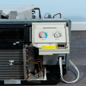 Image 4 of 9k BTU Reworked Gold-rated GE PTAC Unit with Resistive Electric Heat Only - 208/230V, 15A, NEMA 6-15