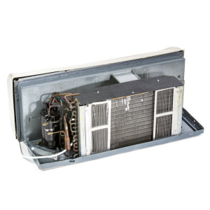 Image 1 of 9k BTU New Carrier PTAC Unit with Resistive Electric Heat Only - 265/277V, 20A, NEMA 7-20 (CA9KEH265KN)