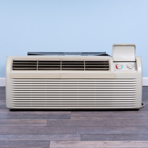 Image 1 of 15k BTU Reworked Gold-rated GE PTAC Unit with Heat Pump - 208/230V, 30A, NEMA 6-30