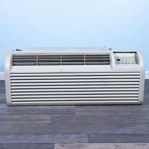 Image 1 of 9k BTU Reworked Gold-rated GE PTAC Unit with Heat Pump - 265/277V, 20A, NEMA 7-20
