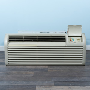 Image 1 of 12k BTU Reworked Gold-rated GE PTAC Unit with Resistive Electric Heat Only - 265/277V, 20A, NEMA 7-20