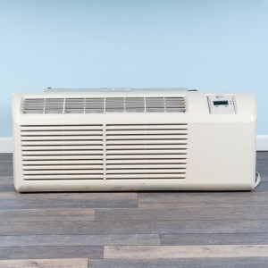 Image 1 of 9k BTU Reworked Gold-rated Trane PTAC Unit with Resistive Electric Heat Only - 265/277V, 20A, NEMA 7-20