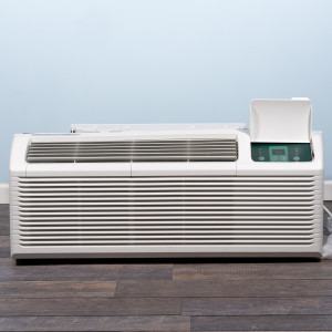 Image 1 of 9k BTU New Midea PTAC Unit with Resistive Electric Heat Only - 208/230V, 20A, NEMA 6-20 (MP09EMB52)