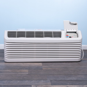 Image 1 of 9k BTU Reworked Platinum-rated Amana PTAC Unit with Resistive Electric Heat Only - 265/277V 20A