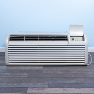 Image 1 of 9k BTU Reworked Gold-rated GE PTAC Unit with Resistive Electric Heat Only - 265/277V 15A