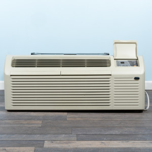 Image 1 of 7k BTU New Gree PTAC Unit with Heat Pump - 208/230V, 15A, NEMA 6-15 (ETAC-07HP230V15B-CP)