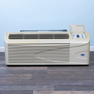 Image 1 of 12k BTU Reworked Gold-rated Carrier PTAC Unit with Resistive Electric Heat - 208/230V 20AMP