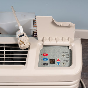 Image 2 of 12k BTU Reworked Gold-rated Amana PTAC Unit with Resistive Electric Heat Only - 265/277V, 15A