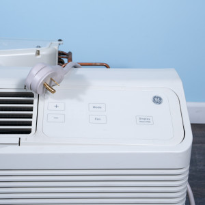 Image 2 of 9k BTU Reworked Gold-rated GE PTAC Unit with Resistive Electric Heat Only - 208/230V, 20A, NEMA 6-20