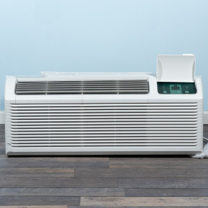 Image 1 of 12k BTU New Midea PTAC Unit with Resistive Electric Heat Only - 208/230V, 20A, NEMA 6-20 (MP12EMB82)