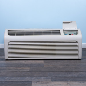 Image 1 of 9k BTU Reworked Gold-rated Amana PTAC Unit with Resistive Electric Heat Only - 220/240V, 20A, NEMA 6-20