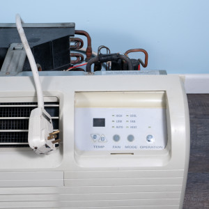 Image 2 of 7k BTU Reworked Gold-rated GE PTAC Unit with Heat Pump - 208/230V, 20A, NEMA 6-20