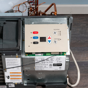 Image 4 of 15k BTU Reworked Gold-rated Amana PTAC Unit with Heat Pump - 265/277V, 20A, NEMA 7-20