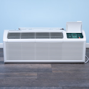 Image 1 of 9k BTU Reworked Platinum-rated Midea PTAC Unit with Resistive Electric Heat Only - 208/230V, 20A, NEMA 6-20