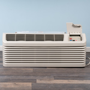 Image 1 of 9k BTU Reworked Gold-rated Amana PTAC Unit with Resistive Electric Heat Only - 265/277V, 20A, NEMA 7-20