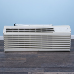 Image 1 of 9k BTU Reworked Platinum-rated GE PTAC Unit with Resistive Electric Heat Only - 265/277V, 20A, NEMA 7-20