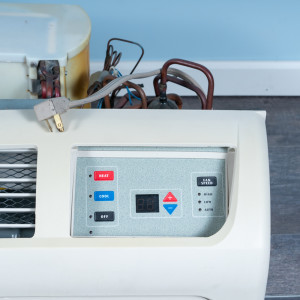 Image 2 of 12k BTU Reworked Gold-rated Amana PTAC Unit with Heat Pump - 265/277V, 15A