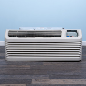 Image 1 of 7k BTU Reworked Gold-rated Amana PTAC Unit with Resistive Electric Heat Only - 265/277V, 20A, NEMA 7-20