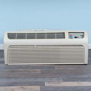 Image 1 of 7k BTU Reworked Gold-rated Amana PTAC Unit with Resistive Electric Heat Only - 265/277V, 20A, NEMA 6-20