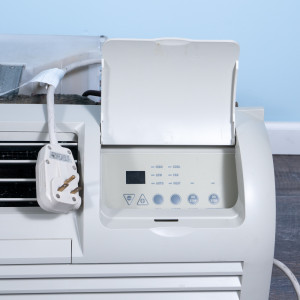 Image 2 of 7k BTU Reworked Gold-rated GE PTAC Unit with Heat Pump - 208/230V, 15A, NEMA 6-15
