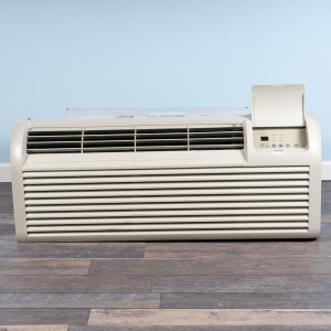 Image 1 of 12k BTU Reworked Silver-rated PTAC Unit with Heat Pump - 265/277V, 15A, NEMA 7-15