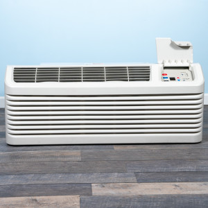 Image 1 of 12k BTU Reworked Platinum-rated Amana PTAC Unit with Resistive Electric Heat Only - 208/230V, 15A, NEMA 6-15