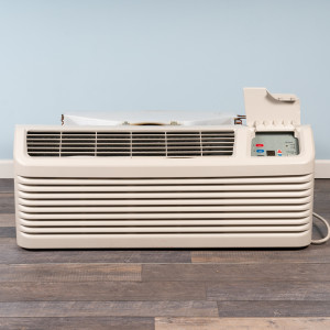 Image 1 of 15k BTU Reworked Gold-rated Amana PTAC Unit with Resistive Electric Heat Only - 265/277V, 20A, NEMA 7-20