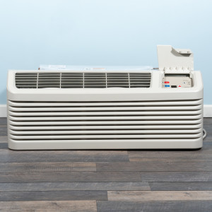 Image 1 of 9k BTU New Amana PTAC Unit with Resistive Electric Heat Only - 265/277V, 15A, NEMA 7-15 (PTC094G25AXXX)
