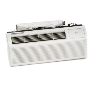 Image 1 of 15k BTU New Midea PTAC Unit with Heat Pump - 208/230V, 20A, NEMA 6-20 (MP15HMB42)