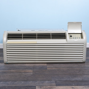 Image 1 of 9k BTU Reworked Gold-rated GE PTAC Unit with Resistive Electric Heat Only - 265/277V, 20A, NEMA 7-20
