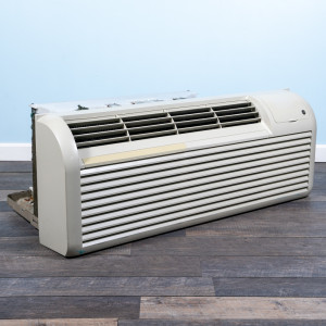 Image 3 of 9k BTU Reworked Gold-rated GE PTAC Unit with Resistive Electric Heat Only - 265/277V, 20A, NEMA 7-20