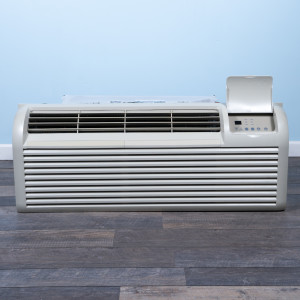 Image 1 of 9k BTU Reworked Platinum-rated GE PTAC Unit with Resistive Electric Heat Only - 208/230V, 20A, NEMA 6-20