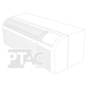 Image 1 of 9k BTU Reworked Gold-rated GE PTAC Unit with Resistive Electric Heat Only - 265/277V, 15A