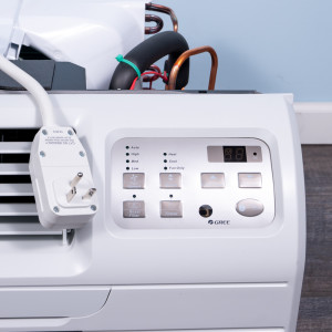 Image 2 of New Gree 9,000 BTU TTW Air Conditioner - 230 volt - 20 amp - with Digital Controls and Electric Heat (26TTW09HC230V1A-T)