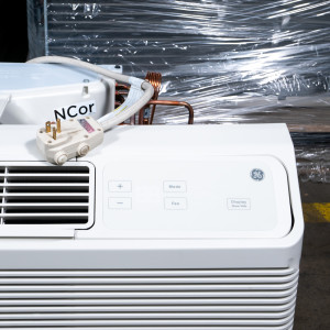 Image 1 of 7k BTU New GE PTAC Unit with Heat Pump - 265/277V (AZ65H07EAC)